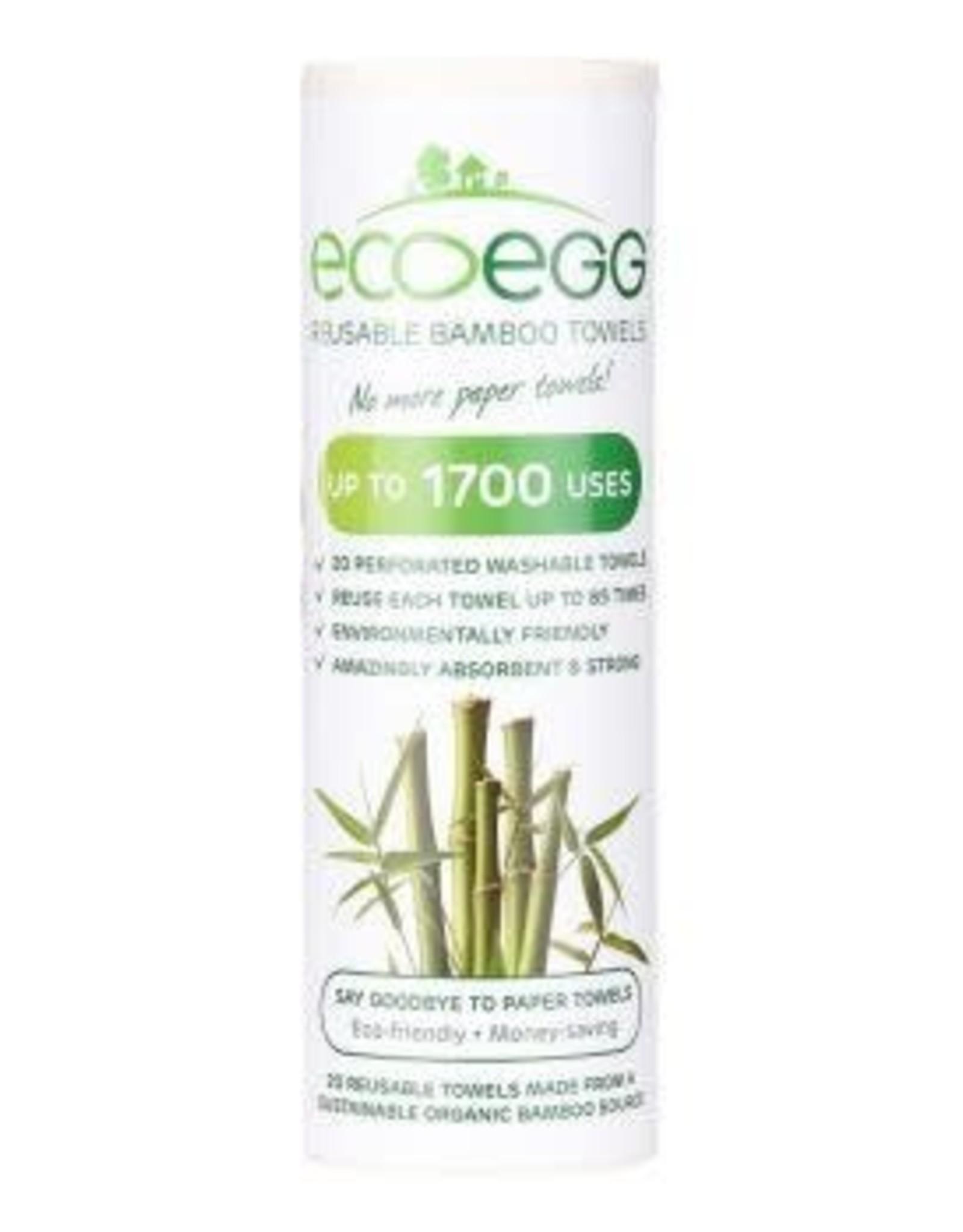 Ecoegg Bamboo herbruikbare Schoonmaakdoekjes op rol - 20 stuks