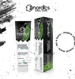 Nordics Natuurlijke tandpasta houtskool fluoride vrij 75ml