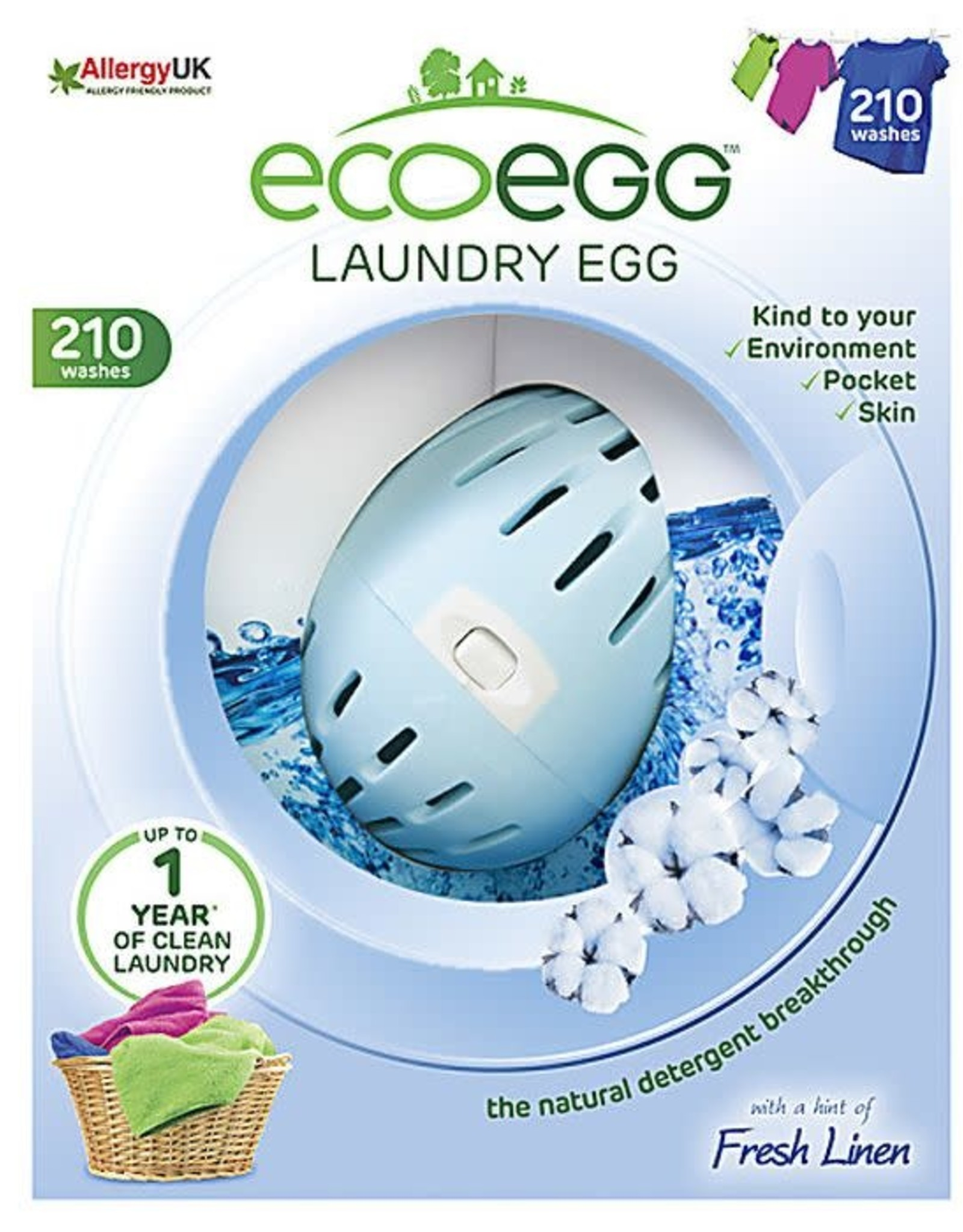 Ecoegg ecoegg Laundry Egg Fresh Linen 210 washes