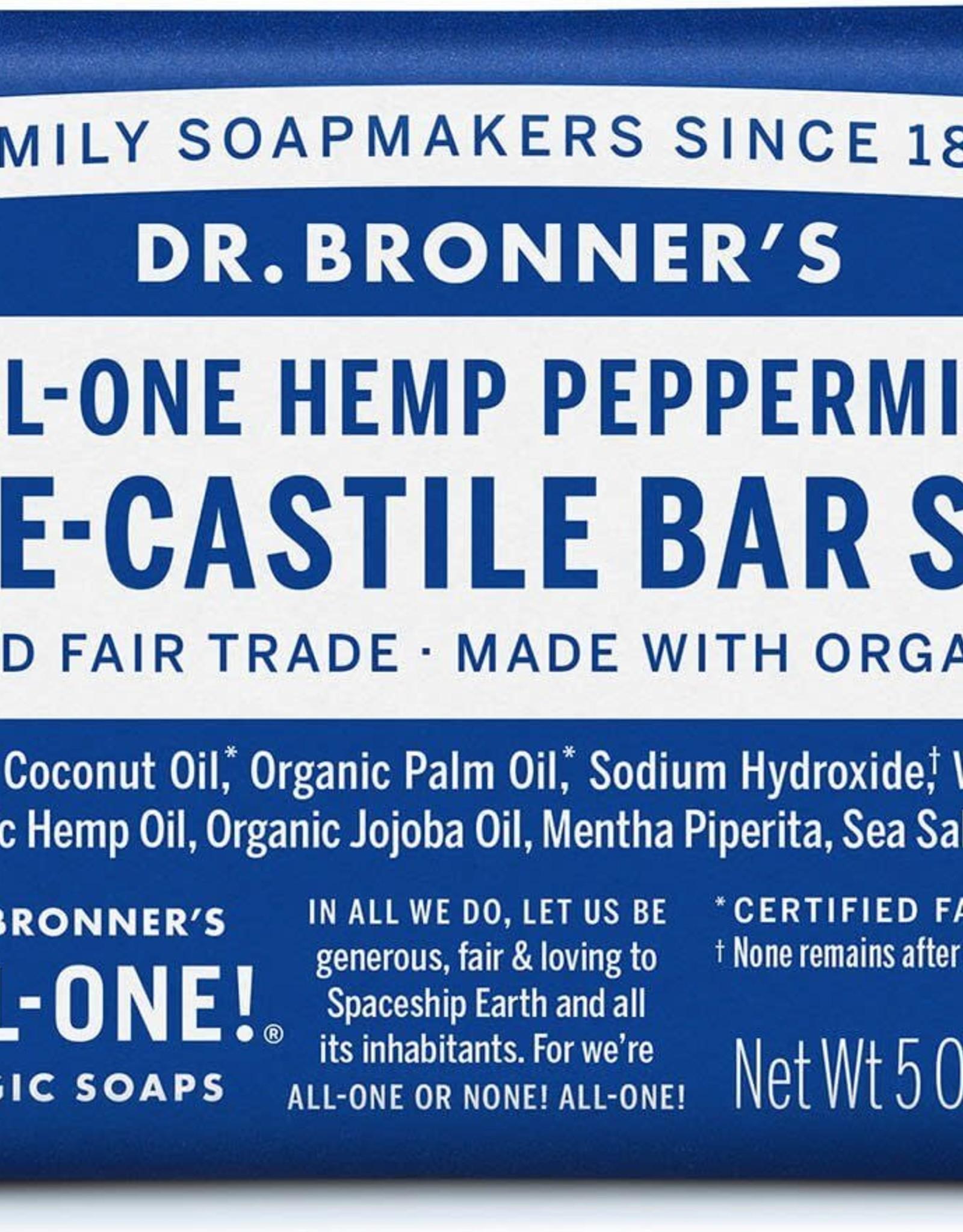 Dr. Bronner Dr. Bronner's - soap bar Peppermint 140g