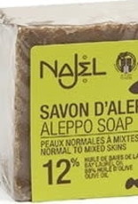 Najel Aleppo zeep olijf olie - normal to mixed skins 12% 200g