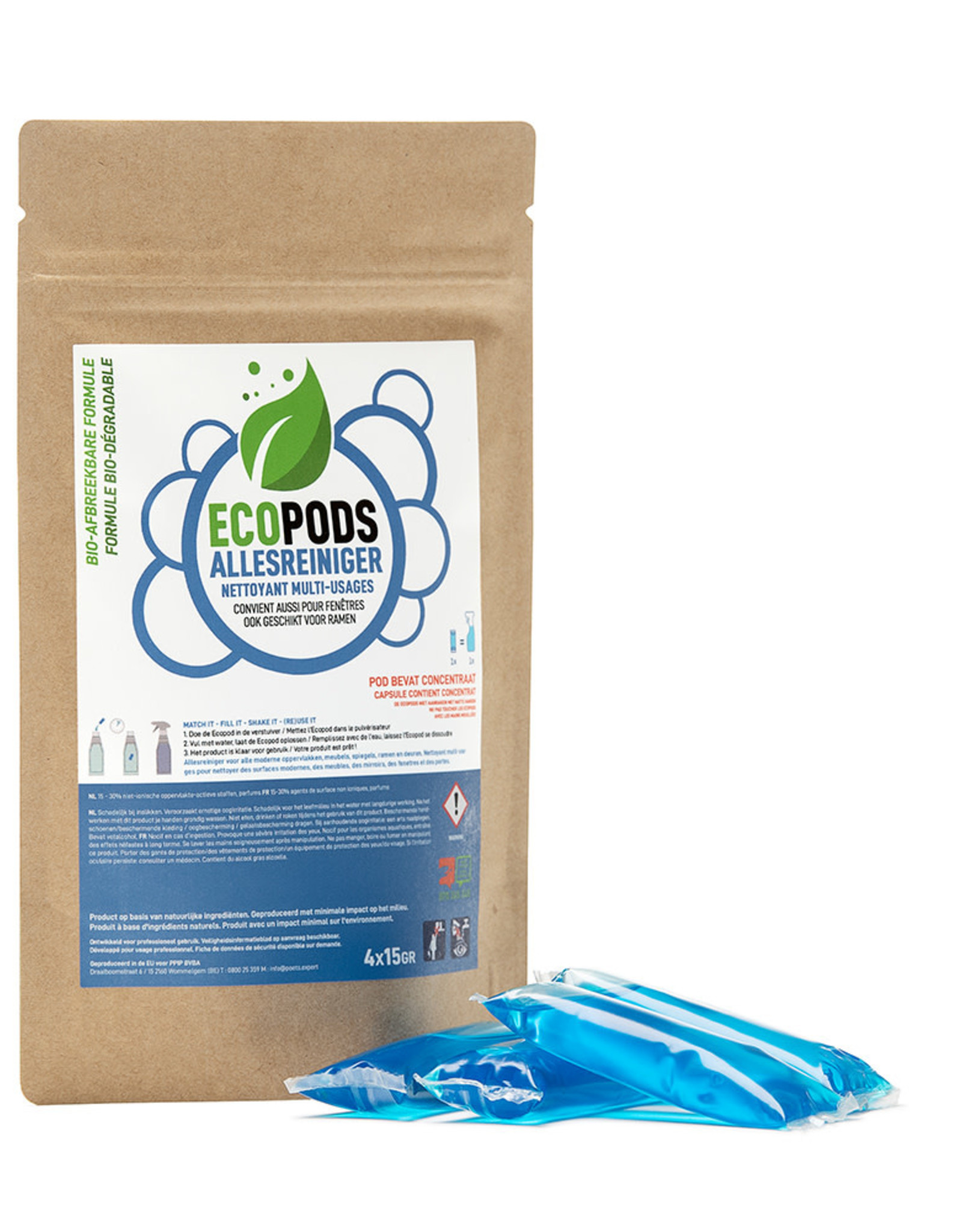 Ecopods Ecopods -  blauwe pods allesreiniger 1 stuk