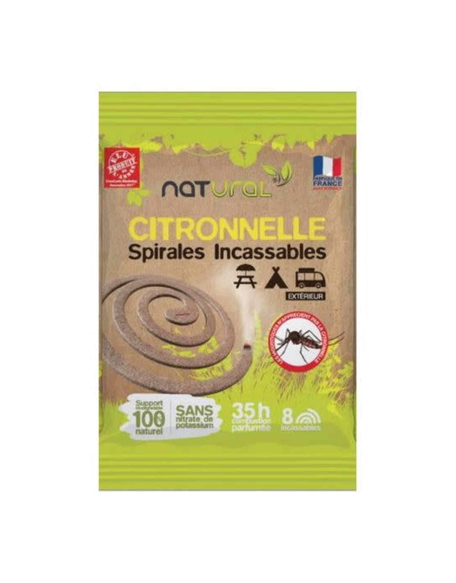 Natural Anti Mug Spiraal Citronella. 8 stuks