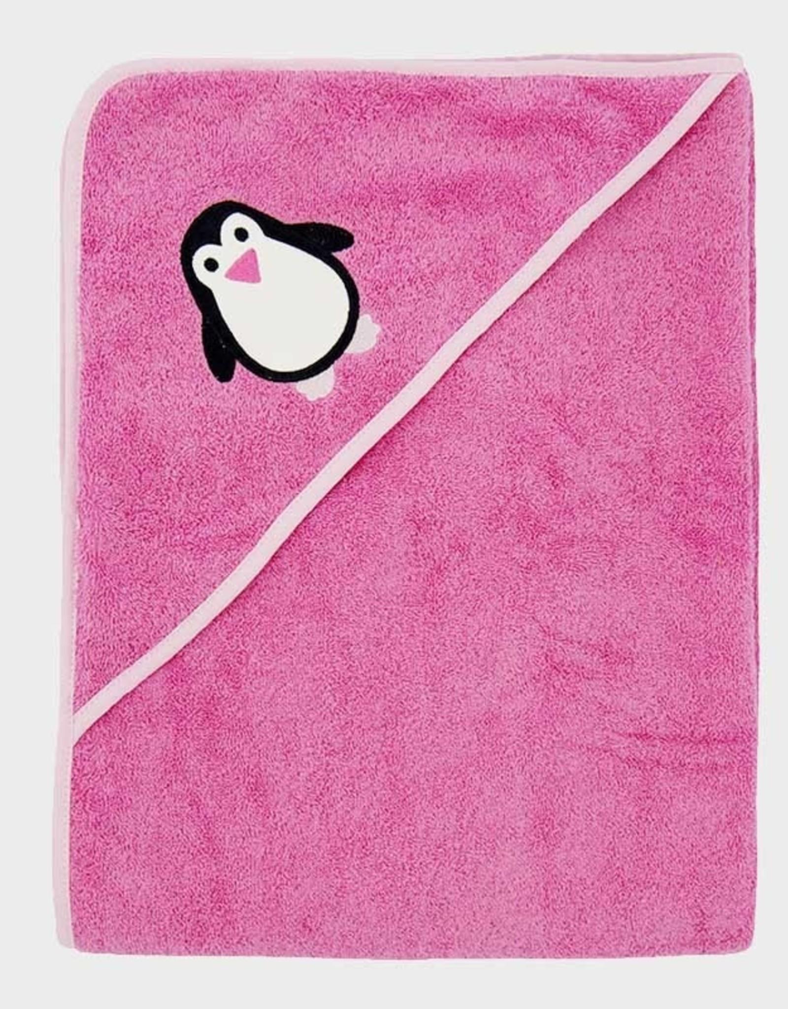 ImseVimse Hooded Towel - Pink Penguin 100 x 100cm