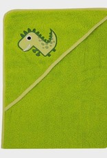 ImseVimse Hooded Towel - Green Dino 100 x 100cm
