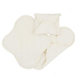 ImseVimse Sanitary Pads pack of 3,  Panty Liner, Natural