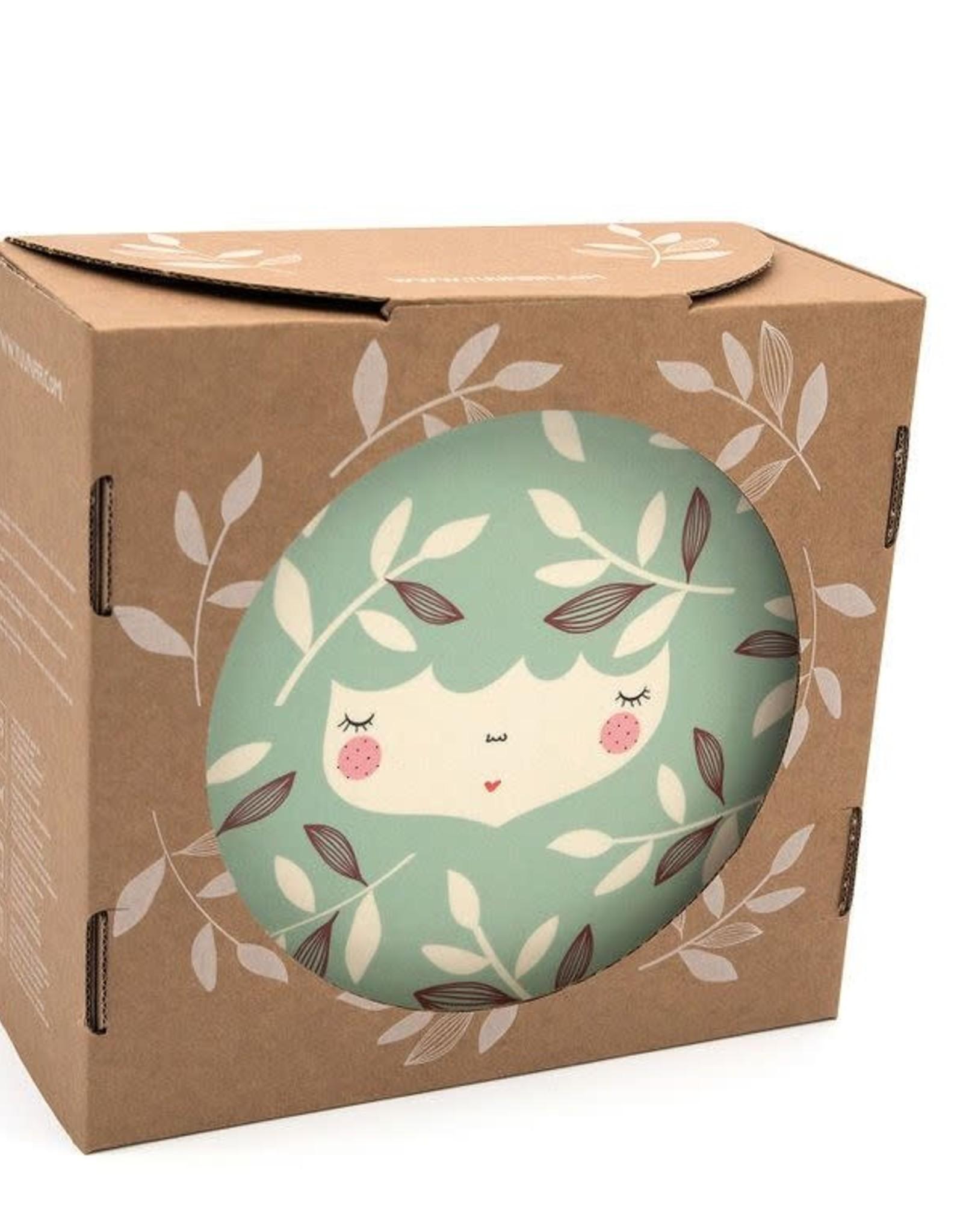 Yuunaa Bamboo Kids Set - Marinska Flower Face Mint - 3 pieces