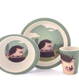 Yuunaa Bamboo Kids Set - Hedgehog - 3 pieces