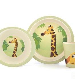 Yuunaa Bamboo Kids Set - Giraffe - 3 pieces