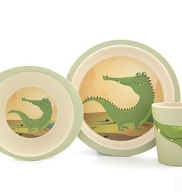 Yuunaa Bamboo Kids Set - Crocodile - 3 pieces