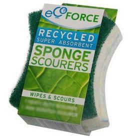 Ecoforce Schuurspons - Grof Groen - Grof (pad) 2stuks