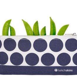 Lunchskins Lunchskins - small zipper Navy Dot