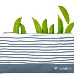 Lunchskins Lunchskins - small zipper Blue Geometric