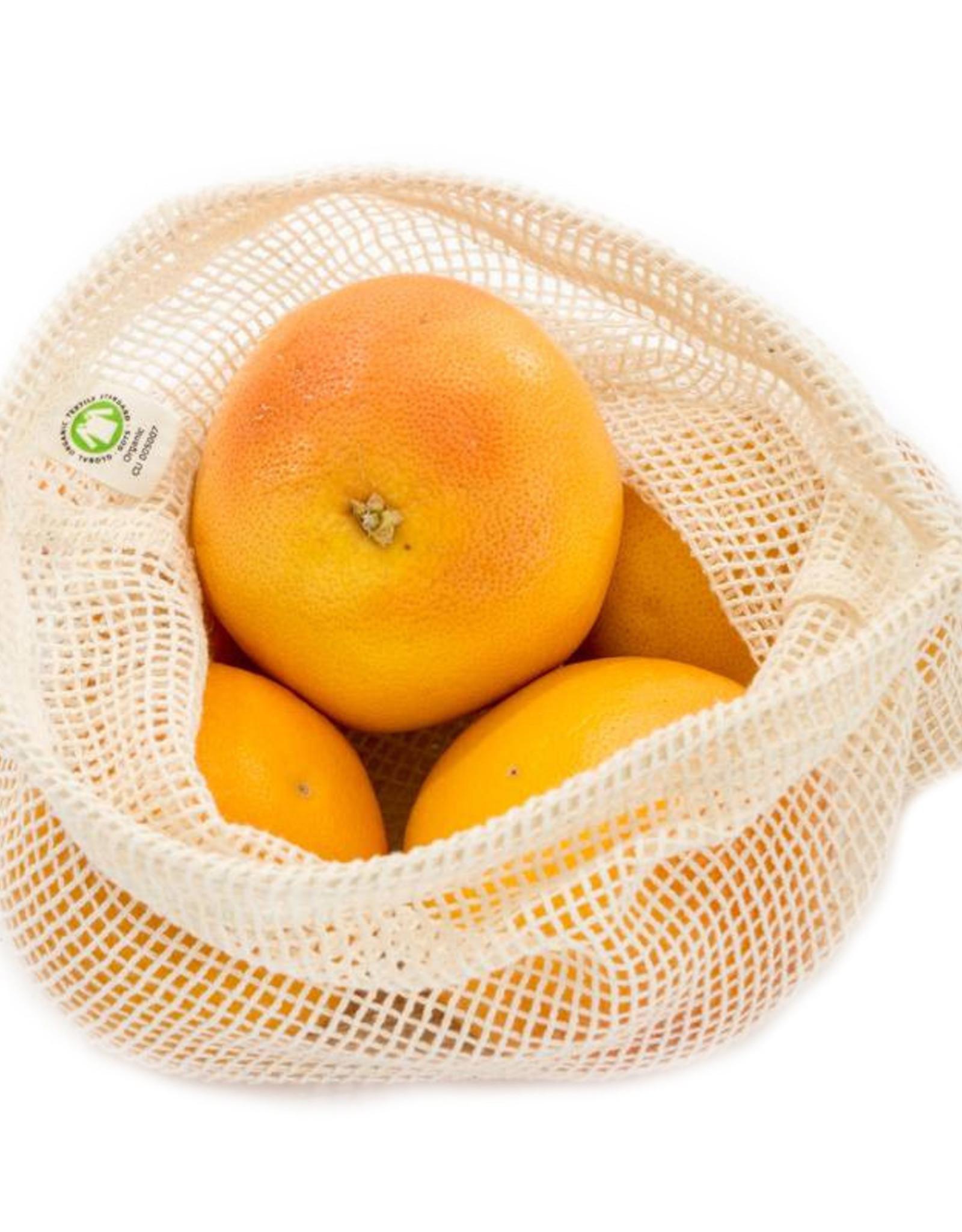 Boweevil Fruit en Groente netje - Maat M - Groentezakje - M 30 x 25cm