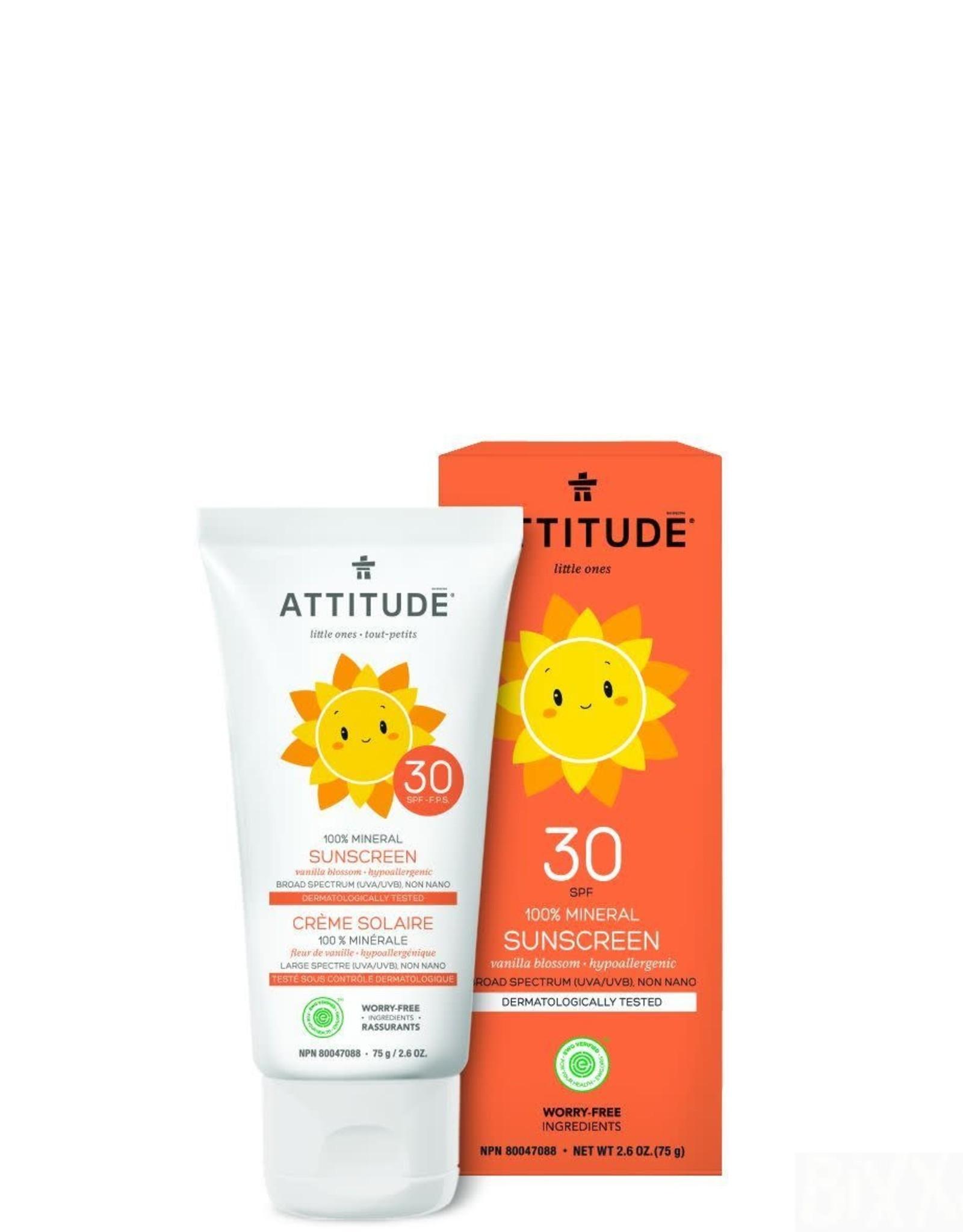 Attitude Little Ones - Zonnebrandcreme - SPF30 Vanille bloesem 75g