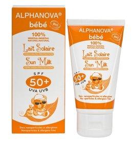 Alphanova Sun zonnebrand milk baby SPF50 zonder parfum 50g