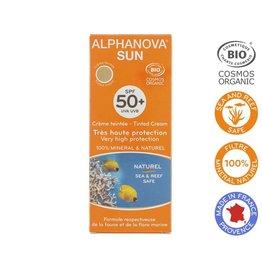 Alphanova Sun vegan gekleurde dagcreme SPF50 medium tint 50g