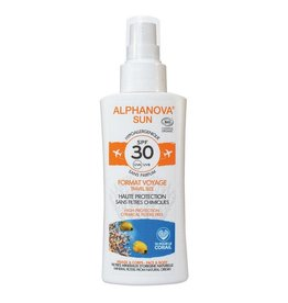 Alphanova Sun spray SPF30 gevoelige huid bio 90g