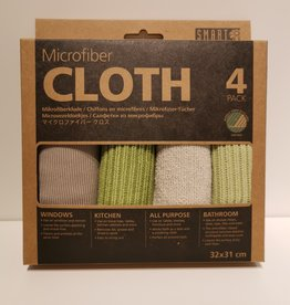 Smart microfiber systems Smart Microvezel doekjes grijs groen - 4 stuks 32 x 31cm