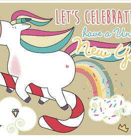 Roos met Witte Stippen Postkaart New Year