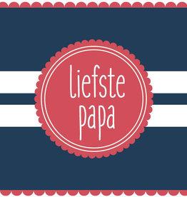 Roos met Witte Stippen Postkaart Liefste papa