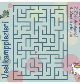 Roos met Witte Stippen Postkaart Kampplezier