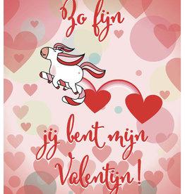 Roos met Witte Stippen Postkaart Zo fijn Valentijn