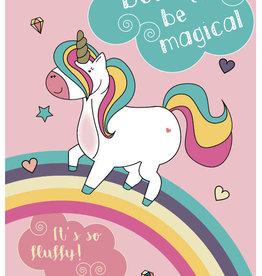 Roos met Witte Stippen Postkaart Born to be Magical