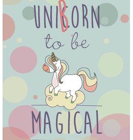 Roos met Witte Stippen Postkaart Uniborn to be Magical