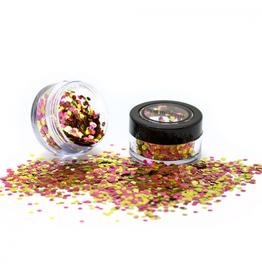 PartyXplosion Biologisch afbreekbare chunky glitters 3 gr. Rose Gold