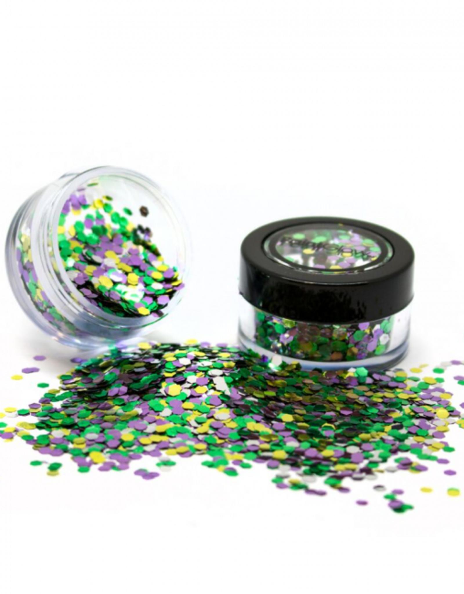 PartyXplosion Biologisch afbreekbare chunky glitters 3 gr. Rain Forest