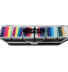 Global Global One Stroke Palette Rainbow  60g