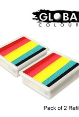 Global Global Colours - 2 PACK Leannes Rainbow *NEON* 2 x 10g