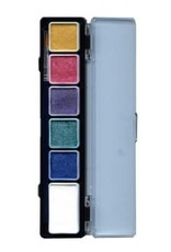 PartyXplosion Palette Pearl colours 5 x 3 and 1 x 6 gram with a brush size 2