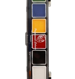 PartyXplosion Palette Essential colours 5 x 3 and 1 x 6 gram with a brush size 2