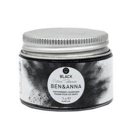 Ben & Anna Tandpoeder zwart active charcoal 20g