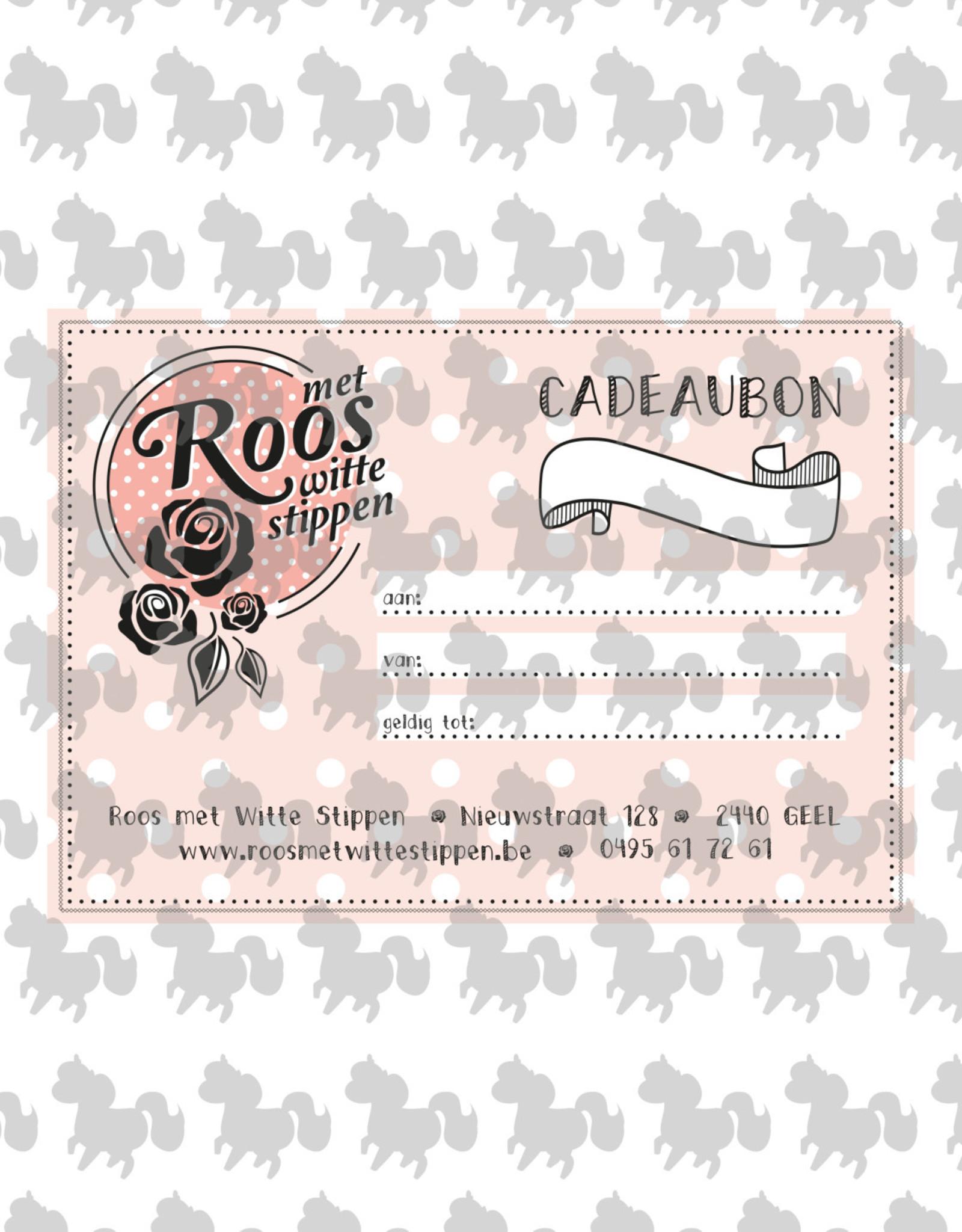 Roos met Witte Stippen Cadeaubon 15 euro