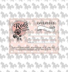 Roos met Witte Stippen Cadeaubon 25 euro