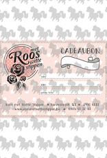 Roos met Witte Stippen Cadeaubon 50 euro