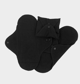 ImseVimse Sanitary Pads pack of 3, Panty liners black