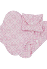 ImseVimse Sanitary Pads pack of 3, Panty liners, slim pads, pink halo