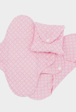 ImseVimse Sanitary pads, Regular, slim pads, pink halo, pack of 3