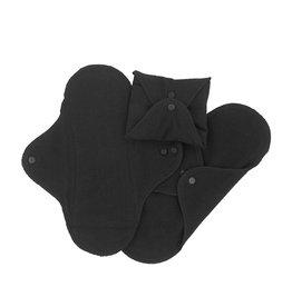 ImseVimse Sanitary pads, Regular, pack of 3, black