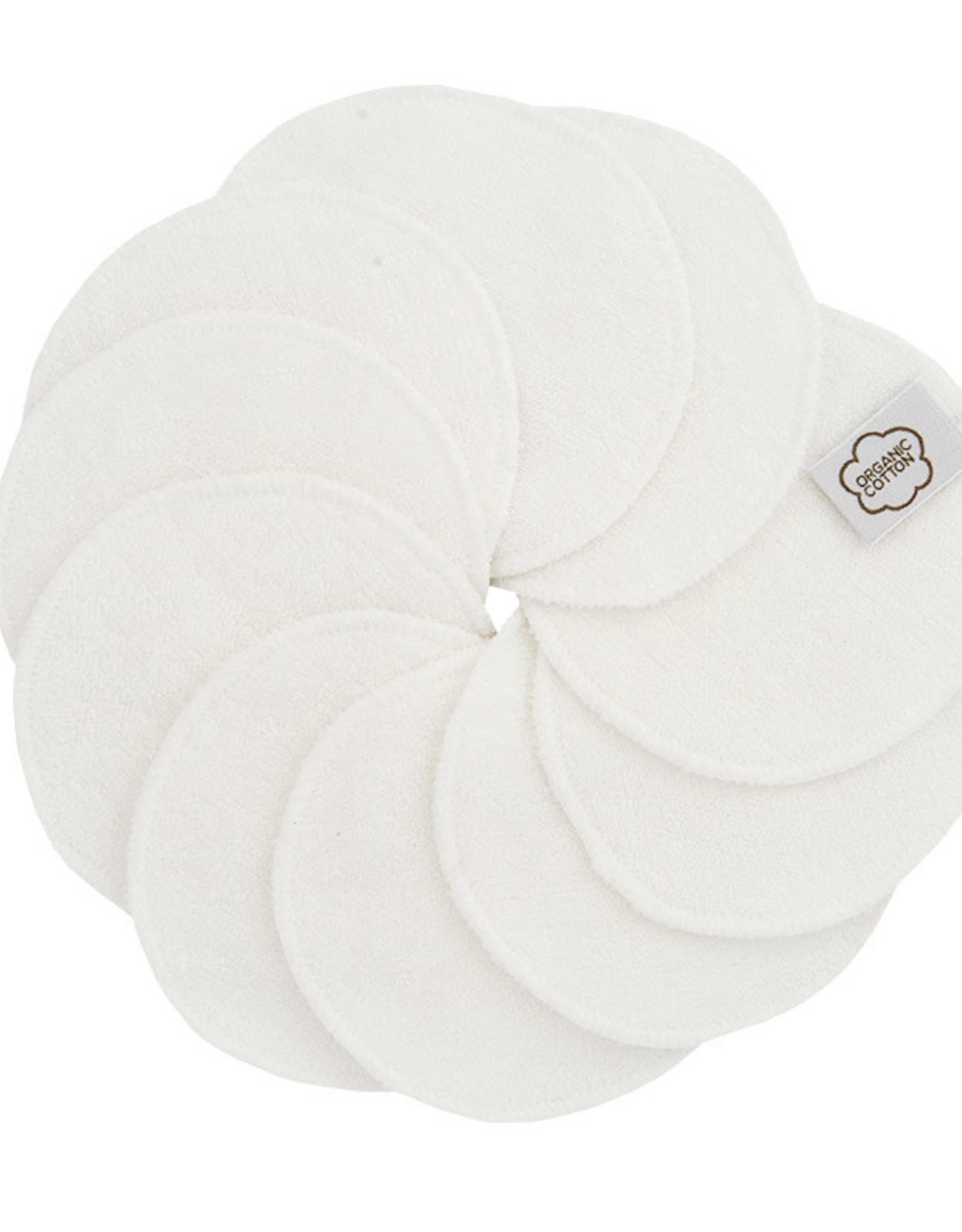 ImseVimse Cleansing pads, 10-pack + washbag, White