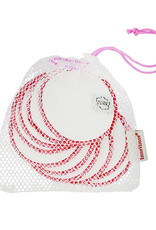 ImseVimse Cleansing pads, 10-pack + washbag, Pink