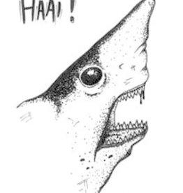 Maanblik Postkaart Haai!