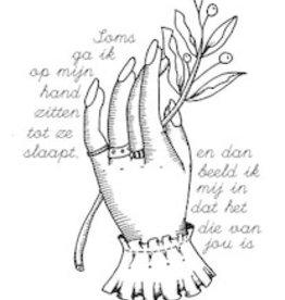 Maanblik Postkaart Hand