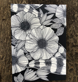 Maanblik Postkaart Bloemen