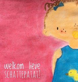 snoetjes vol sproetjes Kaartje Roze vierkant - Schattepatat!