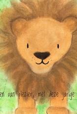 snoetjes vol sproetjes Kaartje Leeuw vierkant - Brullen van plezier